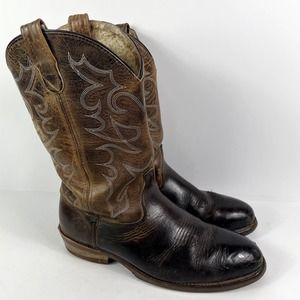 Double-H Men's Steel Toe Cowboy Western Stitched Oil Resistant Leather Boots